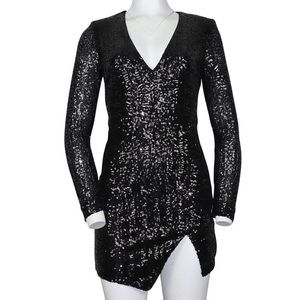 Bebe black sequined dress